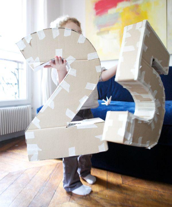 Как сделать цифру из картона и бумаги