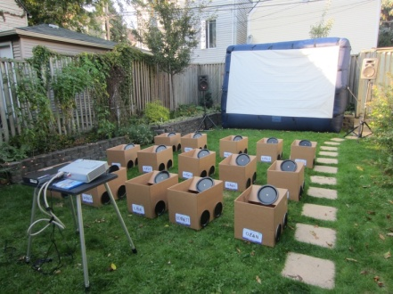 """DIY"" drive-in movie for kids. Photo Courtesy of: Pinterest."