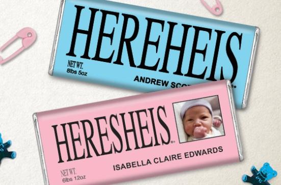 HERESHEIS & HEREHEIS Baby Birth Announcements