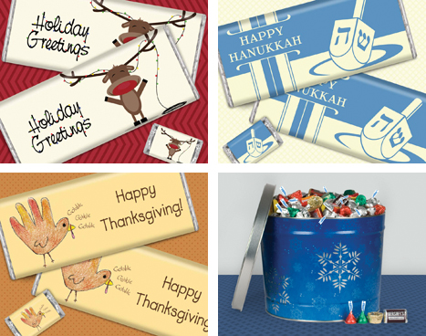 HERSHEY'S Candy Bar Holiday Gift & Greetings