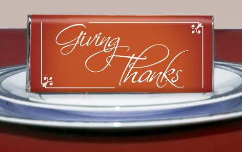 Thanksgivng Table Favors