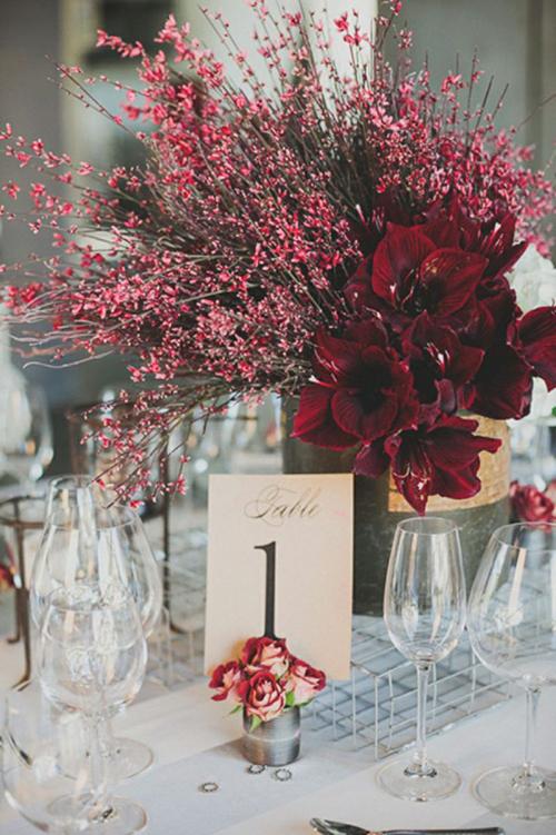 marsala-wedding-centerpieces